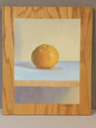 """Max Mason_orig Oil On Wooden Board_""""grapefruit""""_signed Lr And On Back__ships Free"""