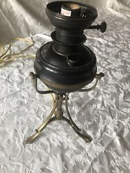 Electric Aladdin Lamp Base With Brass Claw Foot Legs Mint Condition- Rare