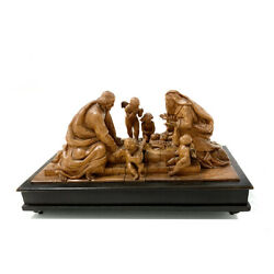 Antique Brienz / Black Forest Carving Of A 19th Century Nativity Scene