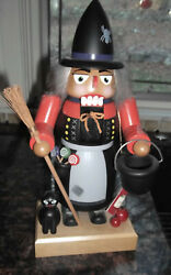 E. M. Merck Old World German Nutcracker Halloween Witch With Tag