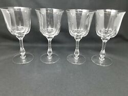 Vintage Duncan And Miller Canterbury Crystal Water Goblets 4