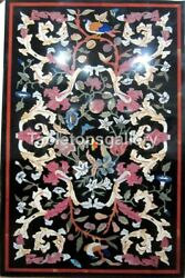 2.5and039x5and039 Marble Top Dining Table Precious Marquetry Inlay Hallway Decorative B237
