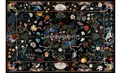 32x48 Marble Top Dining Table Multi Floral And Birds Inlay Restaurant Decor B242