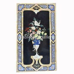 5and039x2.5and039 Marble Top Dining Table Flower Vase Inlay Design Living Room Decor B243