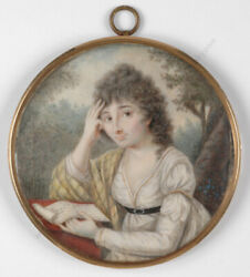 F. H. Fueger-school Lady With A Letter Miniature 1790s