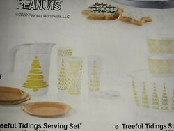 Tupperware Christmas Set Treeful/pitchercupsplateslg.and Sm. Canisters/attache