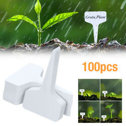 100 x Plant Labels White Nursery Tags Plastic Waterproof Garden Stakes Markers