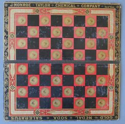 1890s Chemical Co Checker Board For Dyspepsia Headache Tooth Powder Sour Stomach