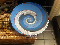 Handmade South African Zulu Telephone Wire Telephone Wire Extra Large Open-v -