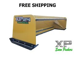 8and039 Skid Steer Pullback Snow Pusher Bobcat Case Caterpillar-free Shipping Xp24