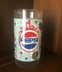 Vintage Pepsi Cola Christmas Ornament Gift Box Drinking Glass Cup