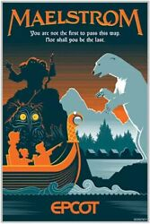 Epcot Maelstrom Serigraph Poster Le 100 Disney Parks Limited