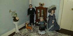 Antique Vintage Bisque porcelain dolls and miniatures for dollhouse all included