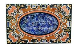 28x55 Marble Dining Table Top Pietra Dura Mosaic Inlay Christmas Gifts B307a
