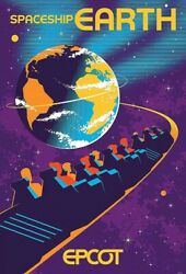 Epcot Spaceship Earth Serigraph Poster Numbered Le 100 Disney Parks Limited