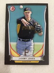 JACOBY JONES ROOKIE quot;BLACK BORDERquot; 2014 BOWMAN DETROIT PIRATES BASEBALL CARD