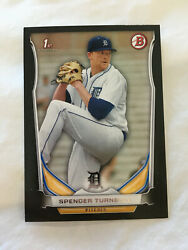 SPENCER TURNBULL ROOKIE B;ACK BORDER 2014 BOWMAN DETROIT TIGERS BASEBALL CARD
