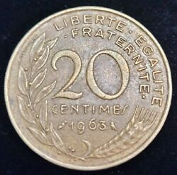 1963 France 20 Centimes Circulated Coin