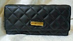 St John Quilted Leather Black Wallet Nwd Msrp 250