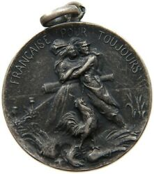 France Ww1 Silver Medal Francaise Pour Toujours 25mm 6.9g S06 355