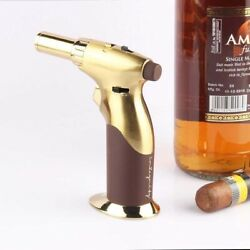 Luxury Single Hand All Adjustable Power Butane Blow Torch, Creme Brulee Torch