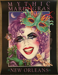 1991 Mardi Gras Poster Mythic New Orleans 24x32 Hand Signed By Andrea Mistretta