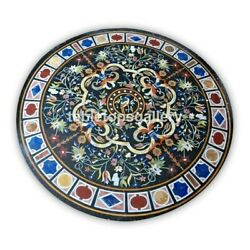48 Marble Top Dining Table Multi Stone Floral Inlay Mosaic Art Decorative B402a