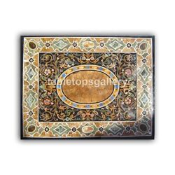 4and039x3and039 Marble Dining Table Top Precious Mosaic Inlay Art Hallway Decorative B433a