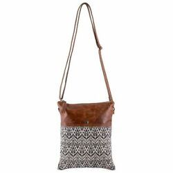 Sixtease Crossbody Bag for Women Canvas and Leather Crossbody Bag Supine $24.00