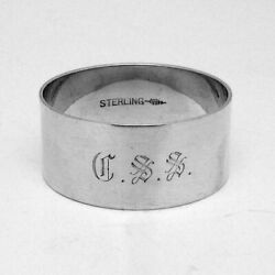 Plain Napkin Ring Webster Sterling Silver Mono Css