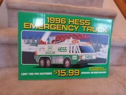 Vintage 1996 Hess Toy Emergency Truck Store Display Pump Topper Sign 18x12