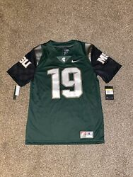 Nike Ncaa Michigan State Spartans 19 Mens Football Jersey Size S Green White