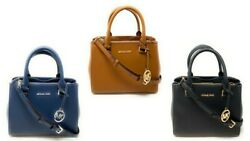 Michael Kors Kellen XS Satchel Crossbody Leather Handbag Purse $268 $91.97