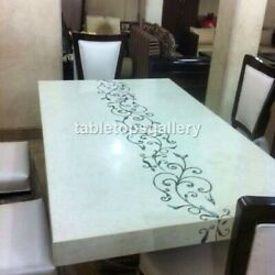 5and039x3and039 Italian Style Marble Top Dining Decorative Table Pauashell Inlay Art B481
