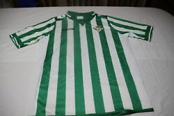 T-shirt Official Vintage Real Betis Brand Macron Size M No 20 Nosa Shirt