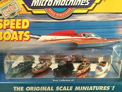 Micro Machines Speed Boat Collection 1 With License Plate 1 Pack 5 Boats 1988
