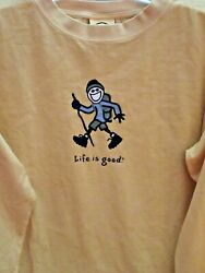 LIFE IS GOOD.ORIG STYLE L S MENS TEE quot;HIKE JAKEquot; FOR THE HIKER IN YOUR LIFE M $32.99