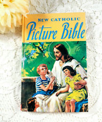 New Catholic Picture Bible 1981 Illustrated Childrens Bible Catholic Book Publ.