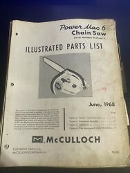 Mcculloch Illustrated Parts List Power Mac 6 Chainsaw 1968 H4