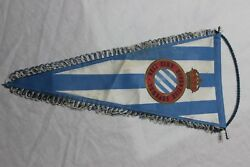 Banner Of Football Of The Real Club Sports Spanish Is Very Old And Cotizado