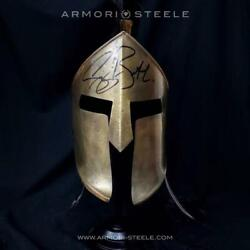 300 Spartan Helmet Signed By Gerard Butler Premium Edition Autographed Full Sc