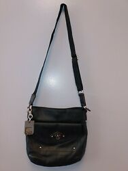 TYLER RODAN LEATHER CROSSBODY 10quot; LONG X 10quot; DEEP WITH KEYCHAIN NICE BAG $14.99