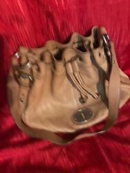 Fossil Leather Bucket Bag Tan Used but Good Condition. $30.00