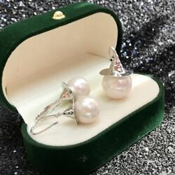 Gorgeous Set Of 10-11mm South Sea White Pearl Necklace Pendant 925s