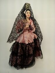 Vintage Bisque Doll 12quot; Senorita Spanish Dancer FREE SHIPPING A