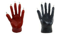 Wax black red candle Hand of Glory 1 pcs
