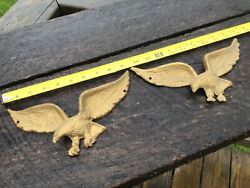 Lot Of 2 Vintage Metal Brass American Bald Eagle 7037 Star Wall Plaques 9