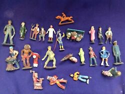 Lot Of Vintage Manoil Barclays Britains Painted Lead Toy Cobler Farmer Soldier