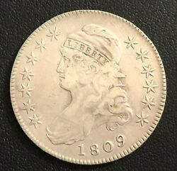1809 Capped Bust Silver Half Dollar
