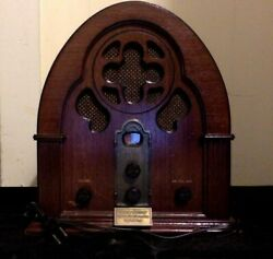 Radio And Cassette Player Wood Dome Antique Design 1991 Thomas Collector's Edition